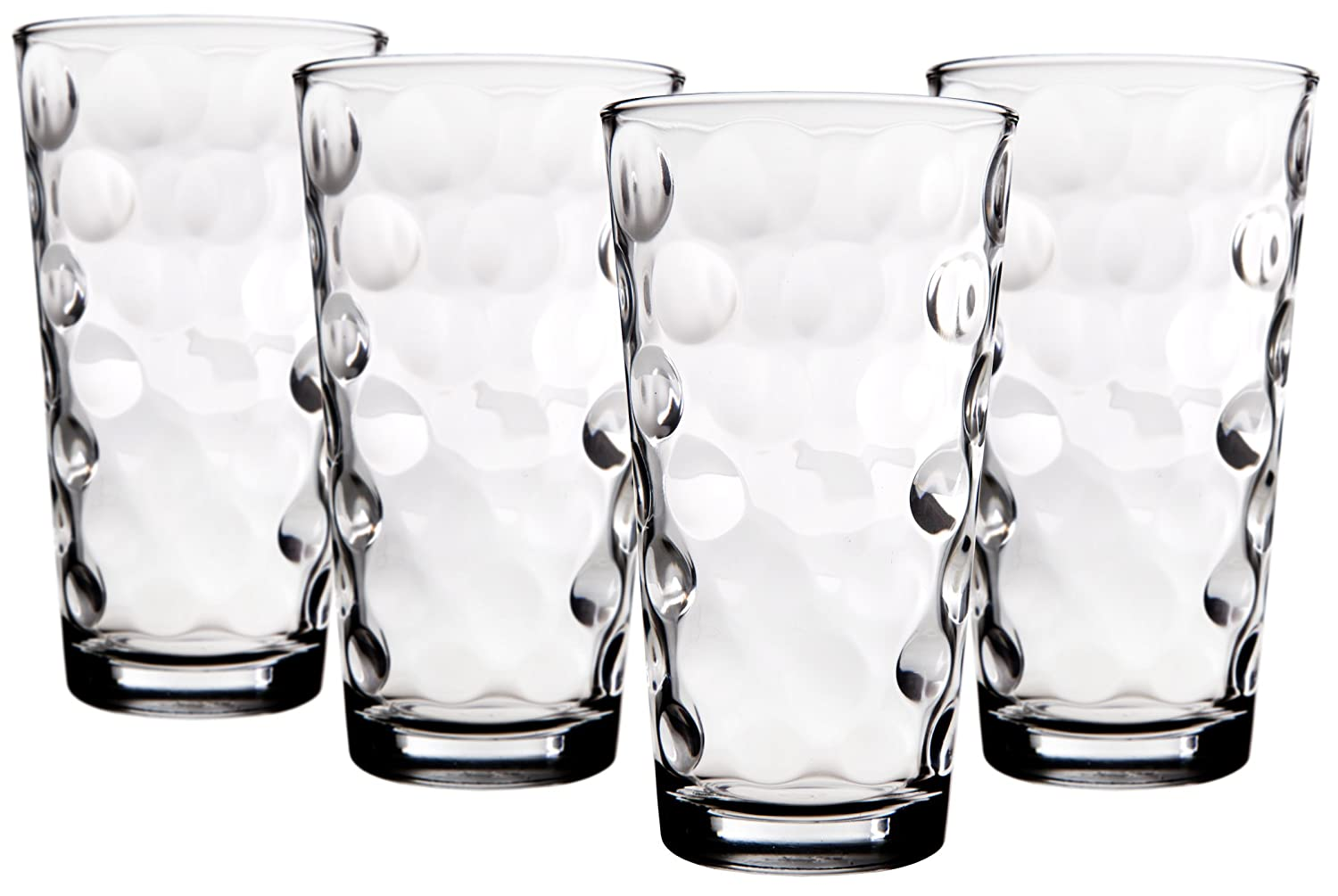 Superior Home N Gifts Eclipse HighBall Glasses | 17 oz Clear Drinking Glasses, Set of 4 Highball Glasses for Mixed Drink Cocktails & Other Beverages