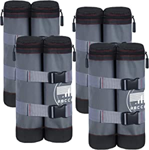 ABCCANOPY Canopy Weight Bags for Pop up Canopy Instant Canopies Shelter, Sand Bags (Gray/Black)