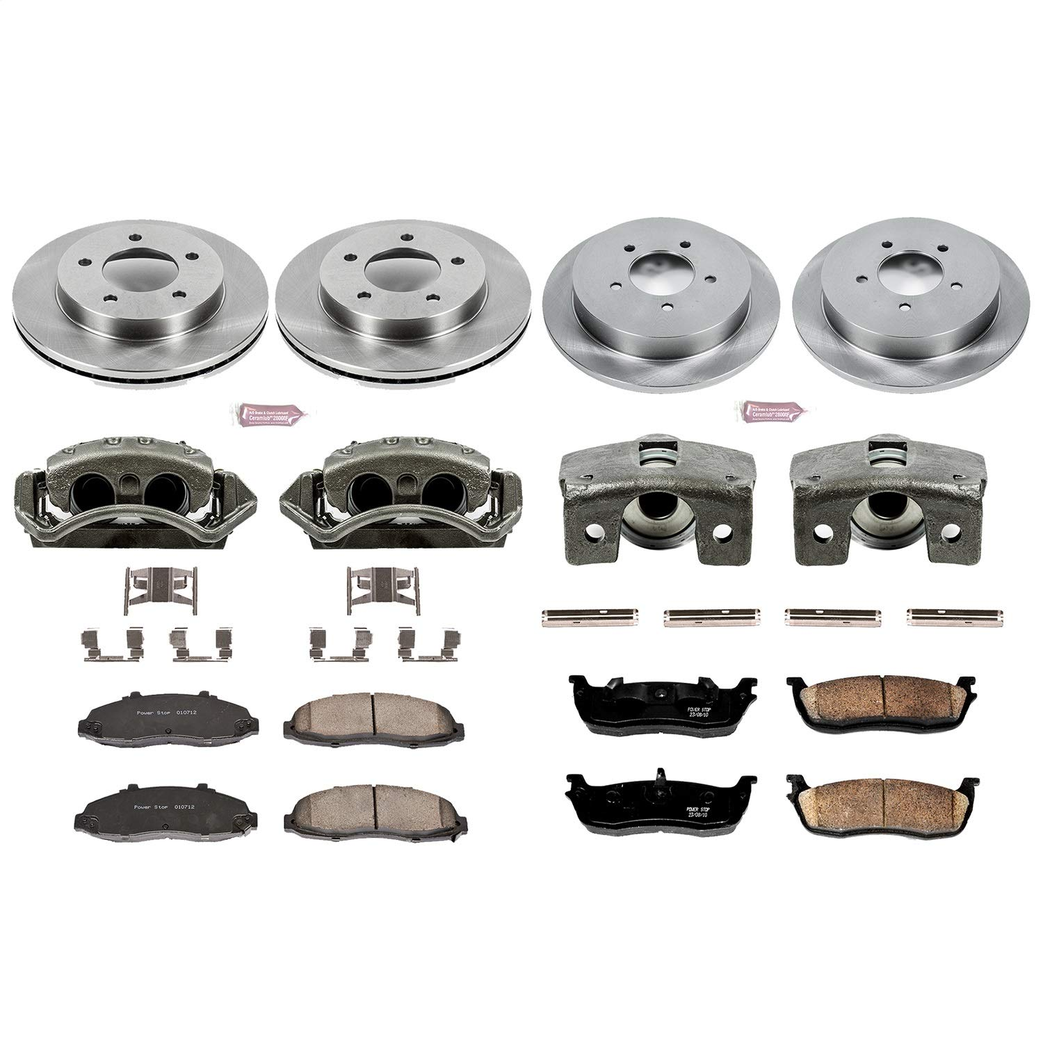 Power Stop KCOE1867 Autospecialty 1-Click OE Replacement Brake Kit with Calipers