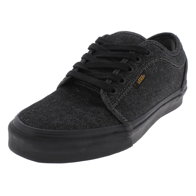 Vans Men's Chukka Low Denim Skateboarding Shoes (7, Black/Cork)