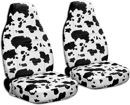 amazon animal print car seat covers cow big pattern semi Ford Econoline Van amazon animal print car seat covers cow big pattern semi custom fit front will make fit any car truck van suv 29 prints automotive