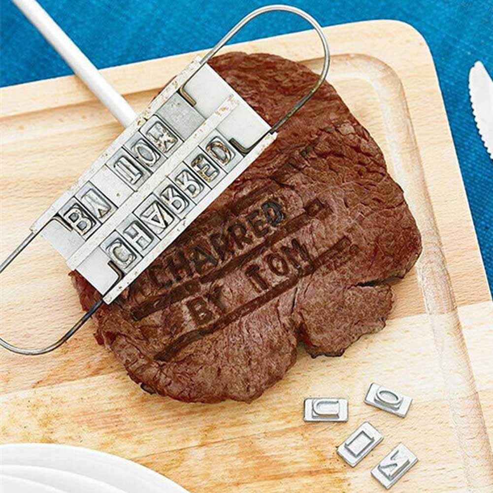Blackr Barbecue Meat Steak Branding Iron BBQ Grill Tool Set W/55 Changeable Letter