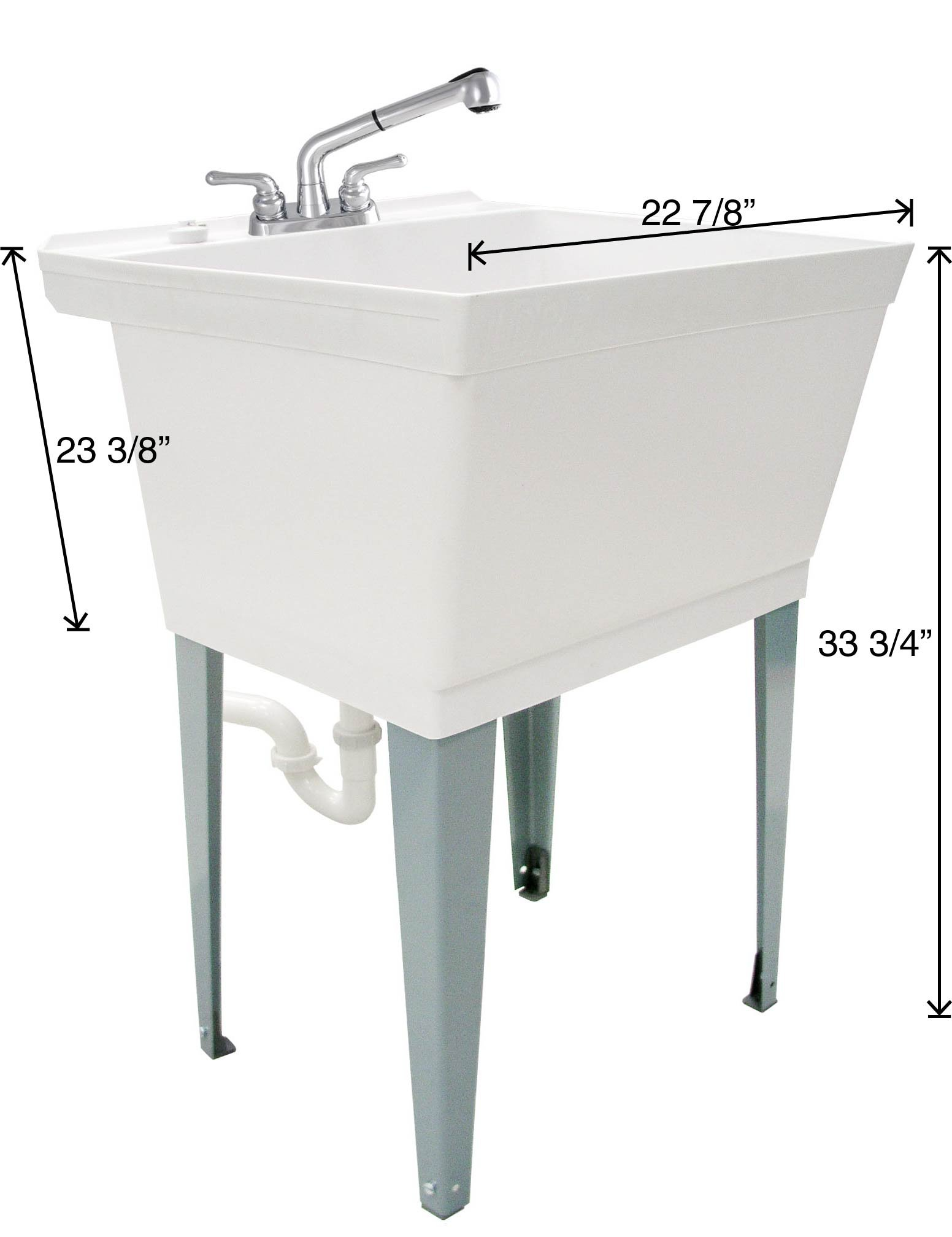 LDR 040 6000 Complete 19-Gallon Laundry Utility Tub with Pull-Out ...
