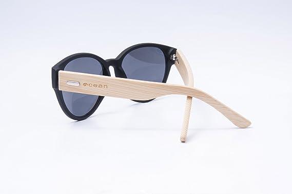 Ocean Sunglasses cool - lunettes de soleil en Bambou - Monture : Bambou - Verres : Fumée (51000.1) Vbi7m