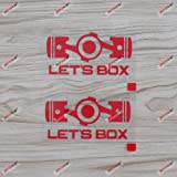 3S MOTORLINE 2X White 4 Box Engine Boxer Flat Decal Sticker Car Vinyl Fit for Subaru BRZ WRX Sti JDM