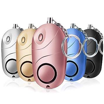 Semoic Paquete de 5 Alarma Personal de Sonido Seguro, 130 Db ...