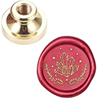 CRASPIRE Wax Seal Stamp Head Crystal Removable Sealing Brass Stamp Head for Creative Gift Envelopes Invitations Cards…