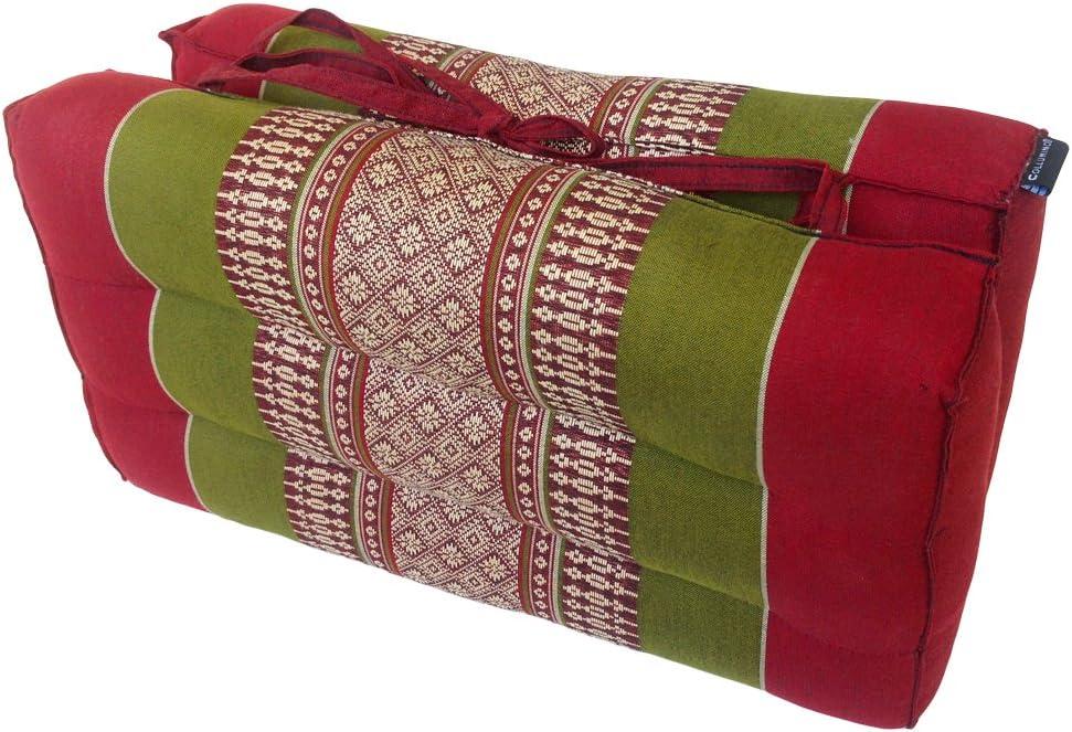 Collumino/® Coussin de m/éditation traditionnel tha/ï en kapok avec poign/ée de transport