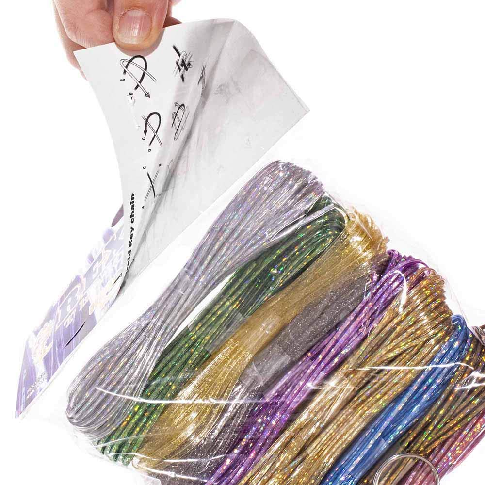 - 300 Feet Plastic Craft Lacing 3 Colors Treslace Rexlace Variety Pack