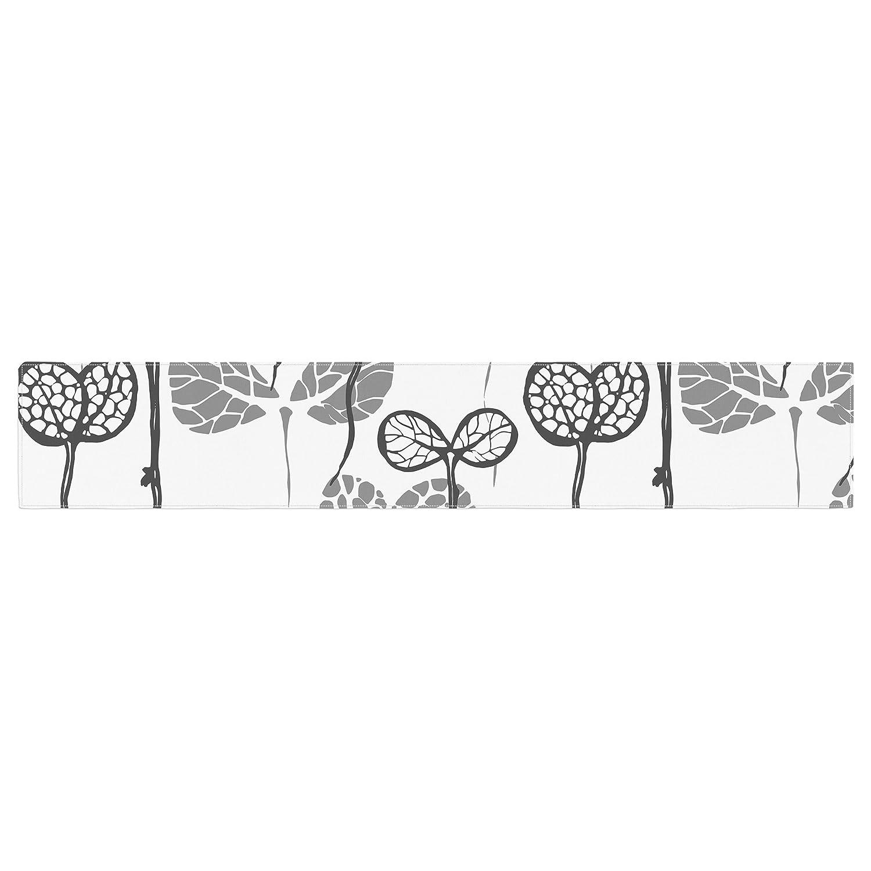 Kess InHouse Gill Eggleston Seedlings of Change White Gray Table Runner