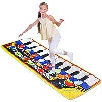 Piano Musical Mat,Giant Educational Pre-Kindergarten Toys,19 Keys Keyboard Floor Mat