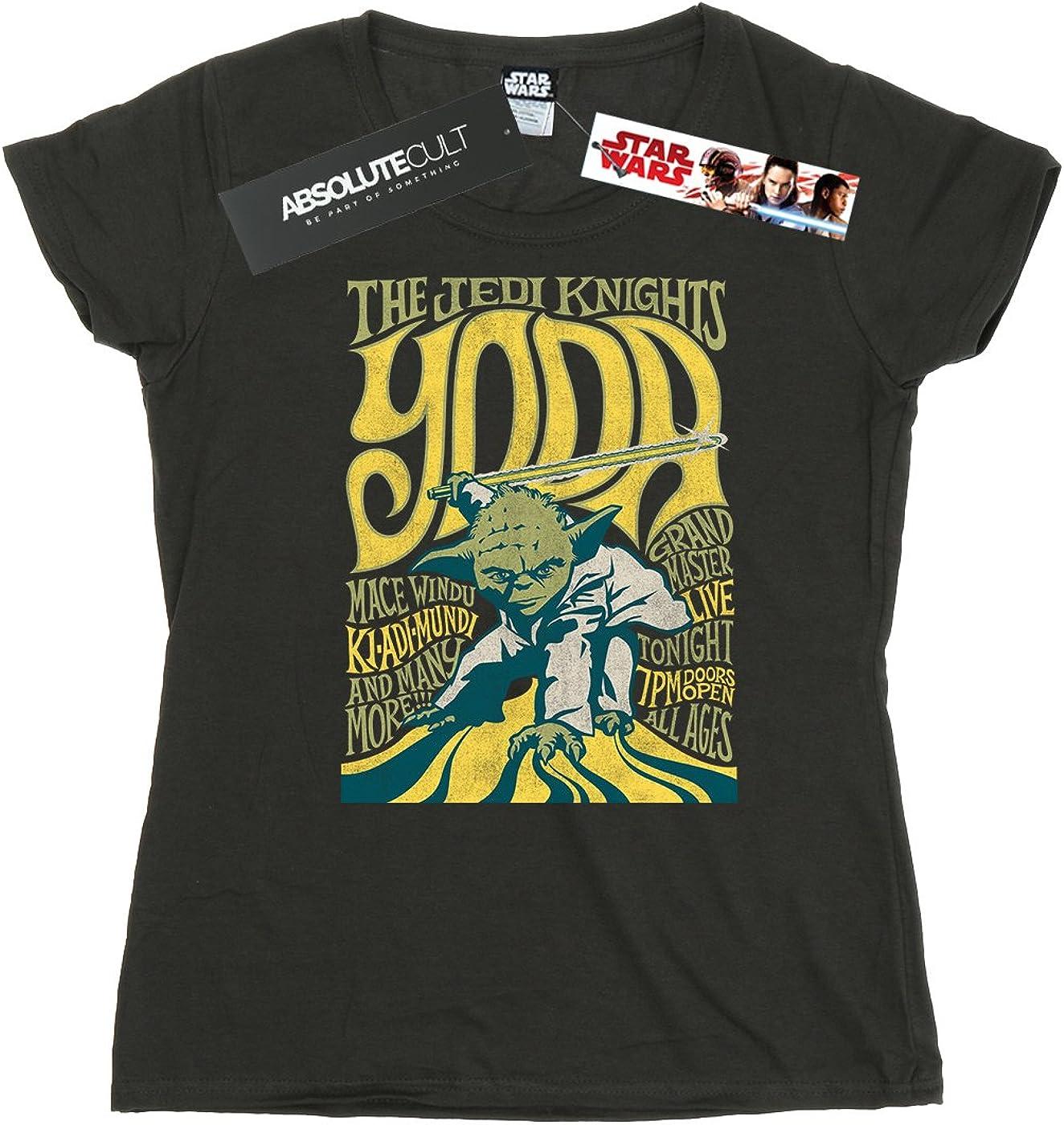 Star Wars mujer Yoda Rock Poster Camiseta