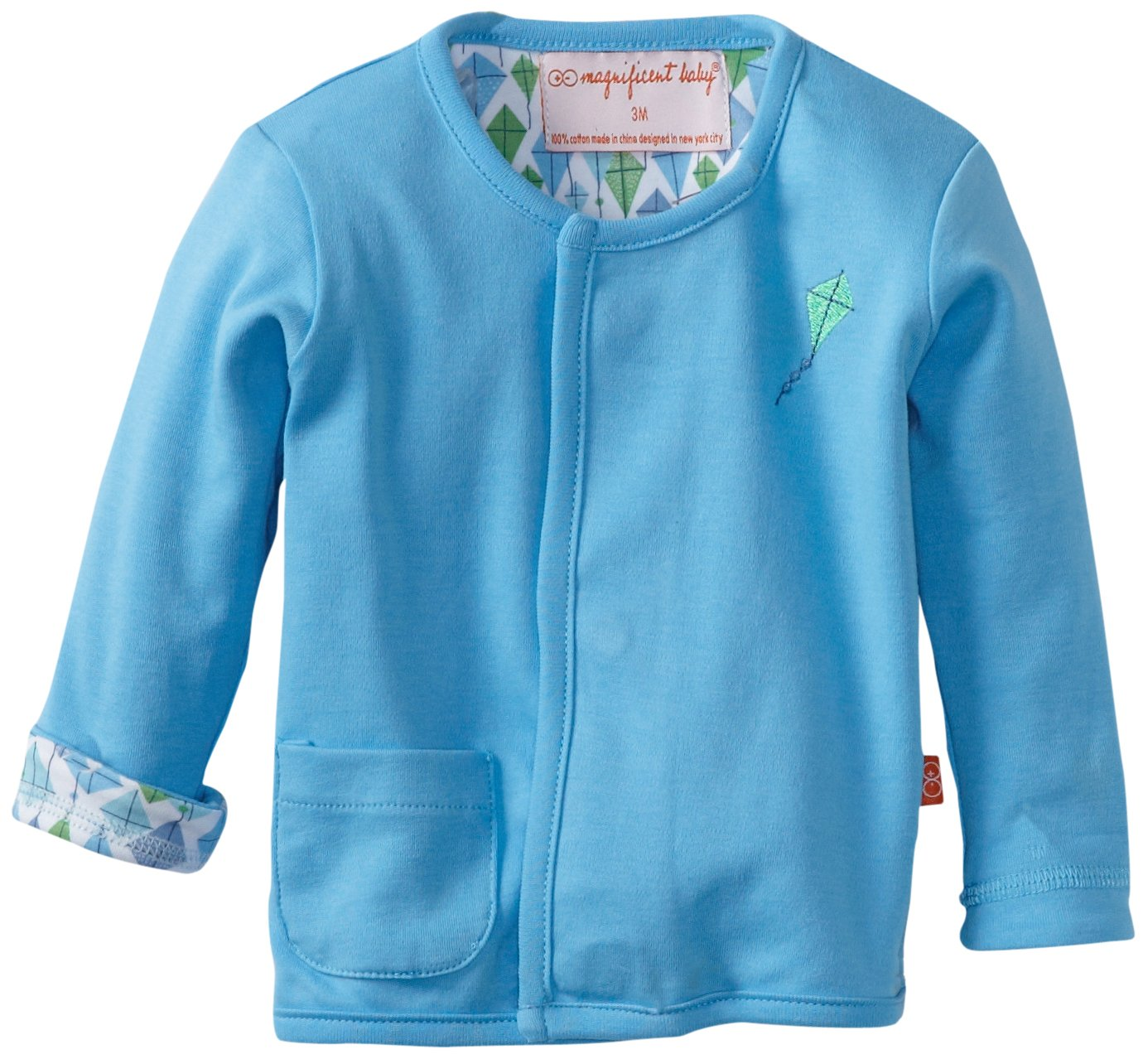 Magnificent Baby Boy's Kites Reversible Cardigan, Kites, 12M 2205B
