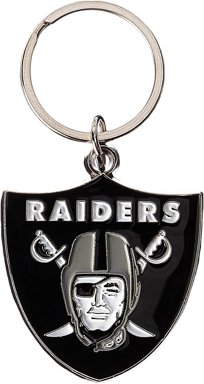NFL Siskiyou Sports Fan Shop Las Vegas Raiders Chrome & Enameled Key Chain One Size Team Colors : Sports Related Key Chains : Sports & Outdoors