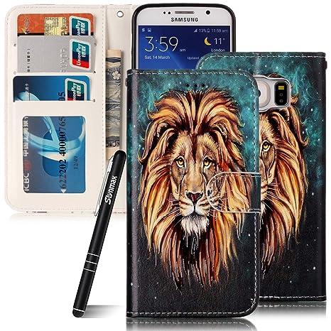 slyn Max Samsung Galaxy S6 Funda de piel, piel funda teléfono ...
