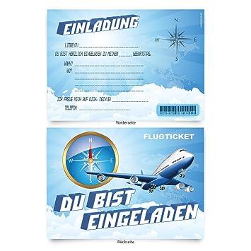 Schön Geburtstagskarten (8 Stück) U0026quot;Flugzeugu0026quot; Zum Einladen  Einladungskarten Karten