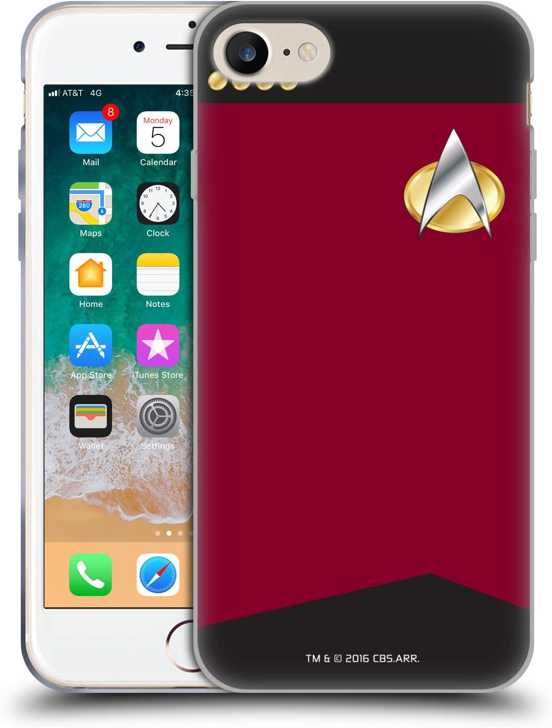 Head Case Designs Officially Licensed Star Trek Captain Uniforms and Badges TNG Soft Gel Case Compatible with Apple iPhone 7 / iPhone 8 / iPhone SE 2020