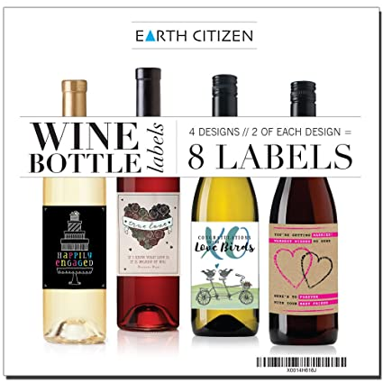 8 beautiful wine bottle labels for engagement gift wedding anniversary all couples