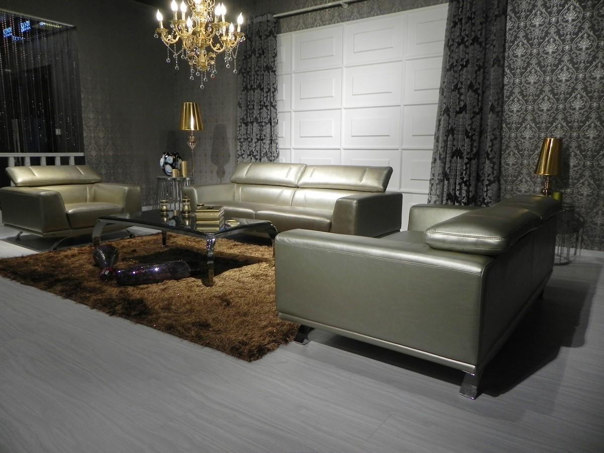 Amazon.com: 8334 Top grano de piel italiano salón sofá Set ...