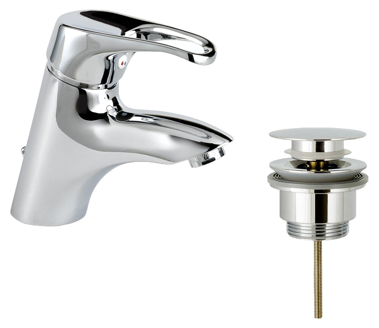 MZ River 256460 M00 Ceramic Basin Mixer with Click-Clack, Chrome
