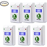 Ultrasonic Pest Repeller,6 Pack YSD Electronic Plug - Ultrasonic Repellent for Rodents, Mice, Rats, Mosquitoes, Roaches, Spiders And Other Bed Bugs & Insects+Free Night Light