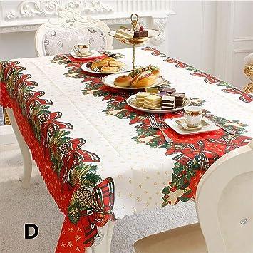 ahanzhu decoración de Escritorio de Navidad Mesa de Tela ...