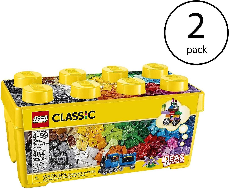 LEGO Classic Medium Creative Bricks Kids 484 Piece Building Box Set (2 Pack)