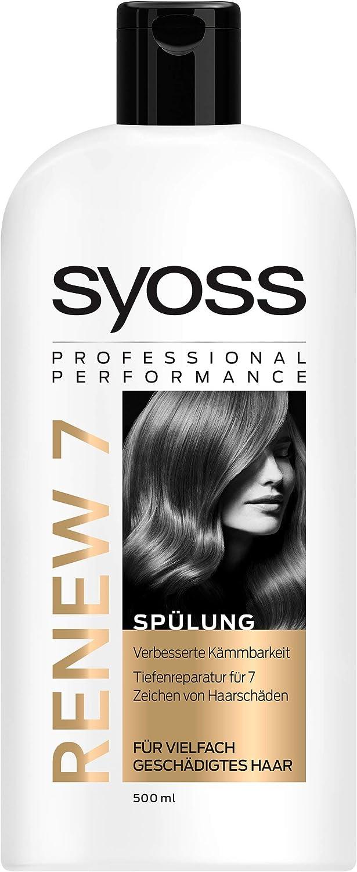 Acondicionador Syoss Renew 7 para cabello dañado múltiple 500 ml