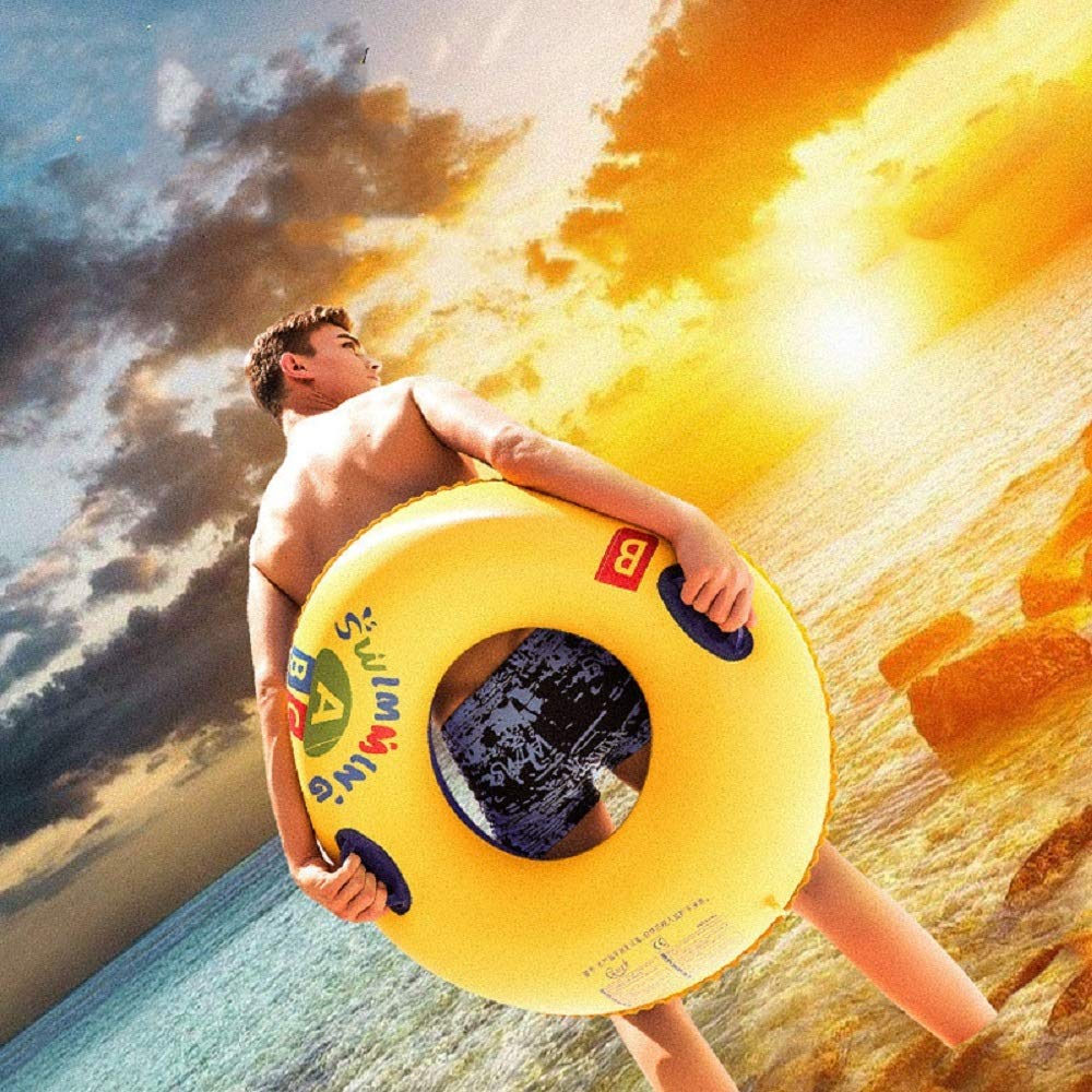 Adult Life Buoy, Swim Circle, Inflatable Summer Swim Ring, Water Toy for Beach Party. PVC Printing,80#90#100# (Size : 100#with Handle) by Cass (Image #4)