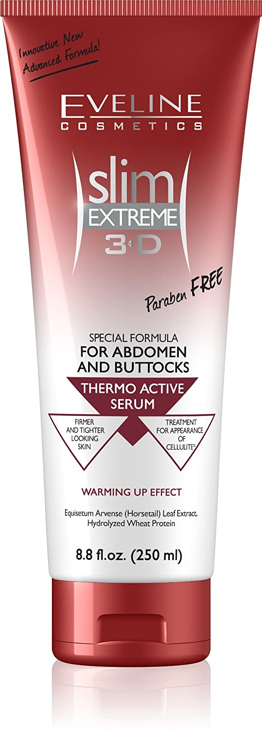 Eveline Slim Extreme 3D Thermo Active Cellulite Cream Hot Serum Treatment for Shaping Waist, Abdomen and Buttocks, Moleo-Baby M00005112