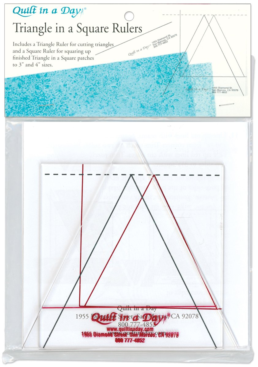 Crafter's Companion 2008 Quilt in a Day, Triangle in a Square Ruler, Set of 2