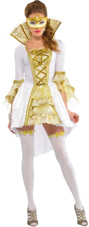 Venise erdbeerloft femme costume de carnaval, kostümset mascarade, taille 36–38 (blanc)
