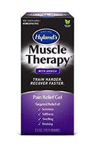 Arnica Gel, Muscle Therapy by Hyland's, Bruise Healing Cream, Natural Relief of Muscle Pain, Swelling, Bruising, Soreness, and Stiffness, 2.5 oz