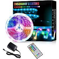 Led Strip Lights, 5M RGB Color Changing Led Strip Lights with 44 Keys RF Remote Controller 5050 LED Rope Lighting Strips…
