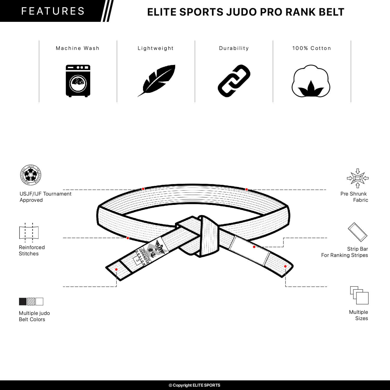a752b4555e2 Amazon.com   Elite Sports Judo Belt   Sports   Outdoors