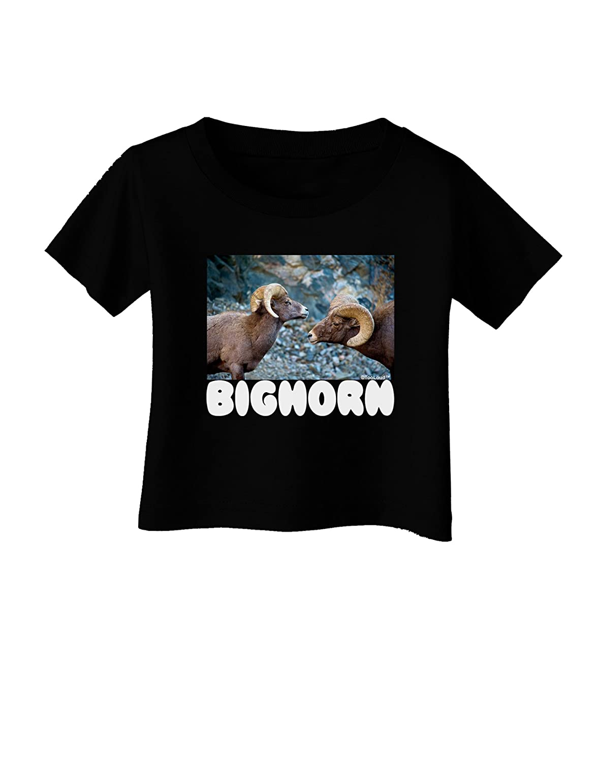 TooLoud Two Bighorn Rams Text Infant T-Shirt Dark