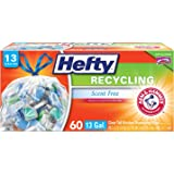 Hefty Trash Bags for the Recycling Bin - Clear, 13 Gallon, 60 Count