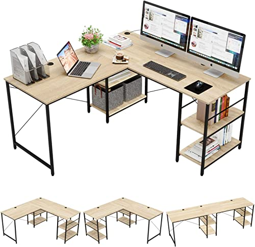 Bestier 95.5″L-shaped Desk