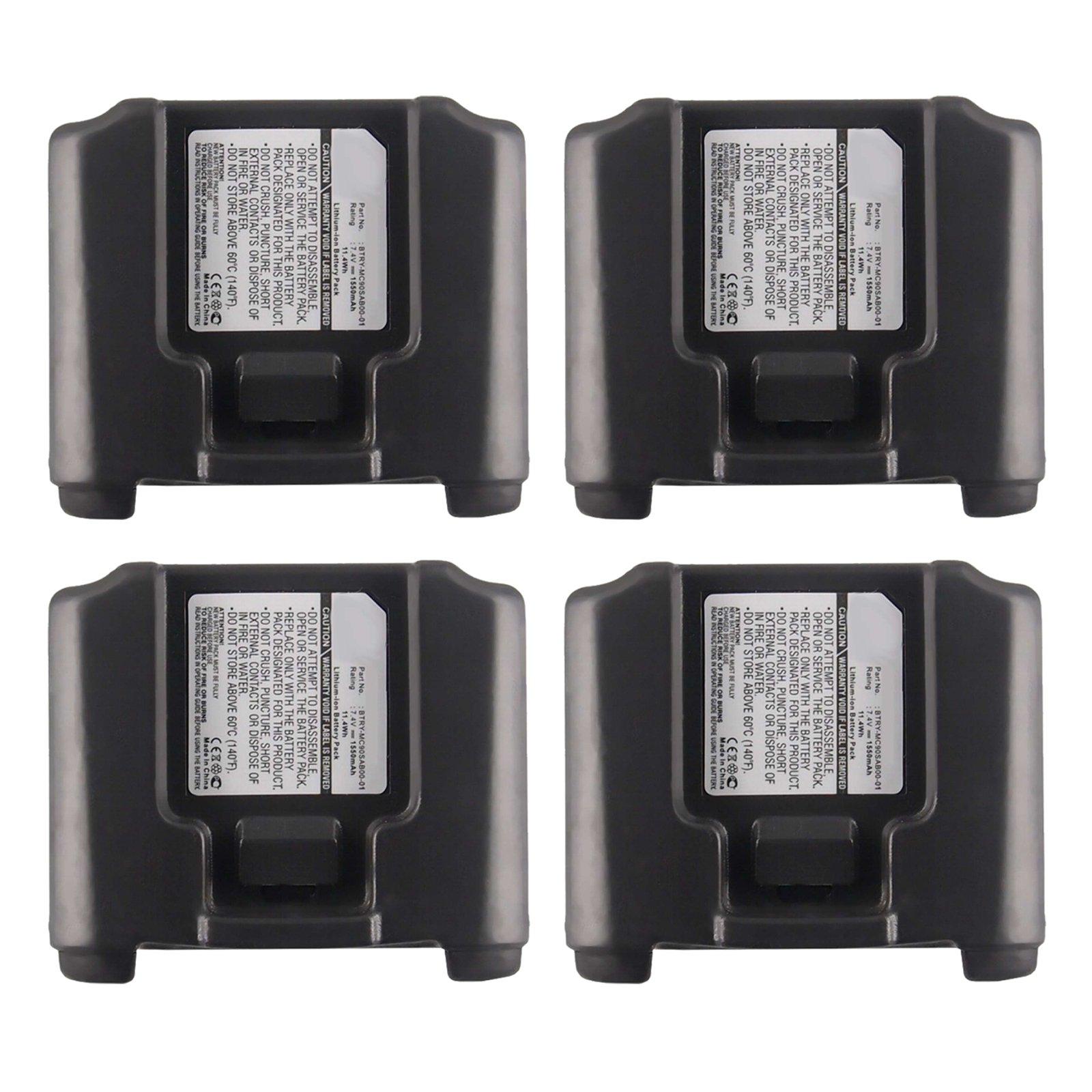 4pc Exell Li-Ion Barcode Scanner Battery For Symbol MC9000,9060 short terminal USA SHIP