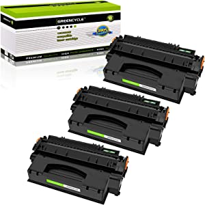 GREENCYCLE 3 Pack Q5949X 49X Black Toner Cartridge Replacement Compatible for HP Laserjet 1320tn 3390 3392 P2014 P2015dn M2727 M2727nf Laser Printer