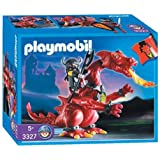 Playmobil - 3327 - Chevaliers - Chevalier / Dragon rouge