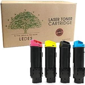 Ledes H825 S2825 H625 Compatible Toner Cartridges for Dell H825cdw S2825cdn H625cdw Laser Printers(4pk:Black,Cyan,Yellow,Magenta)