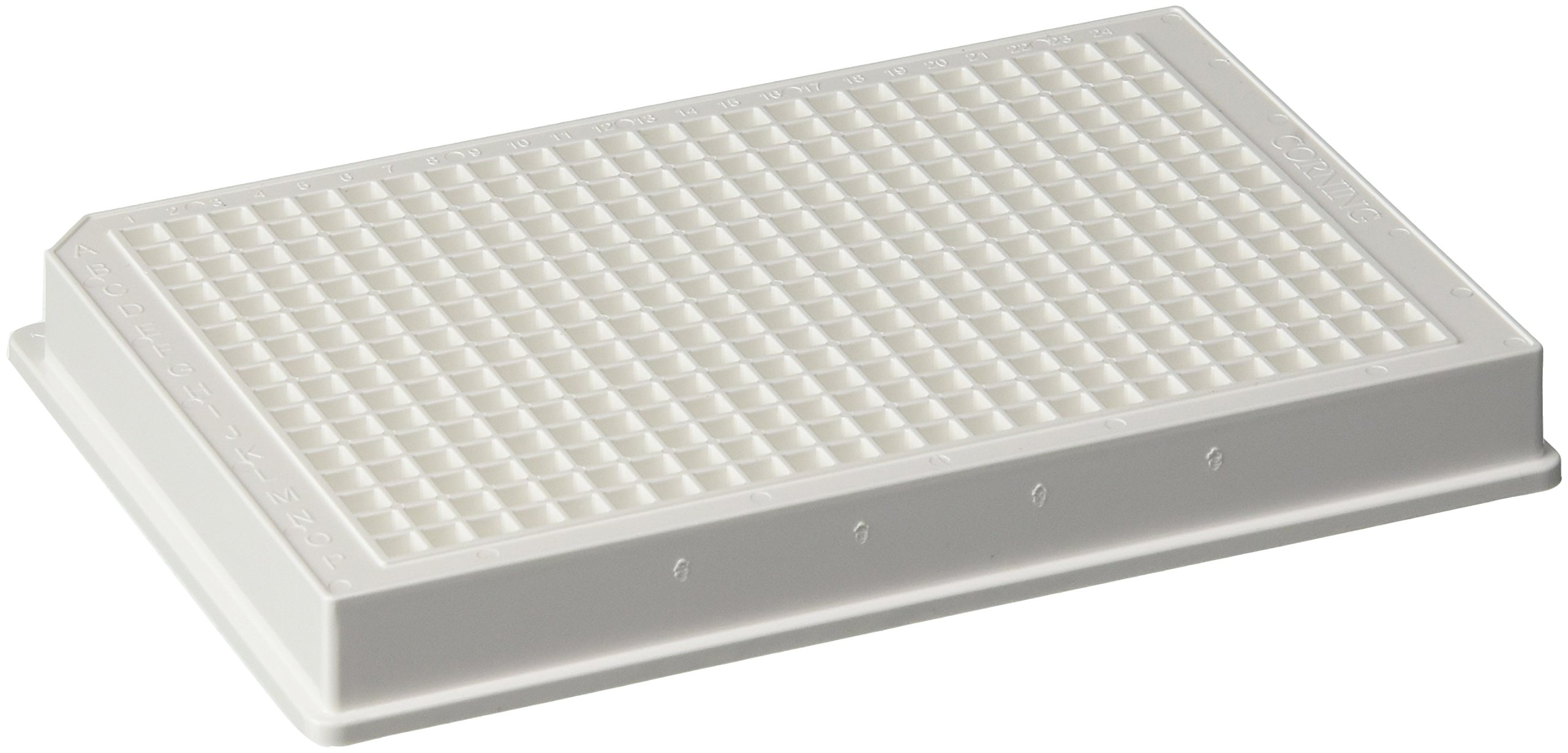 Corning Polystyrene Nonsterile 384 Well Low Flange White Flat Bottom Polystyrene High Bind Microplate, without Lid (Case of 50)
