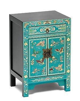 Asia Dragon Meuble de Rangement de Style Chinois -Laque Turquoise avec des  Papillons d  5c9cb2de39a9