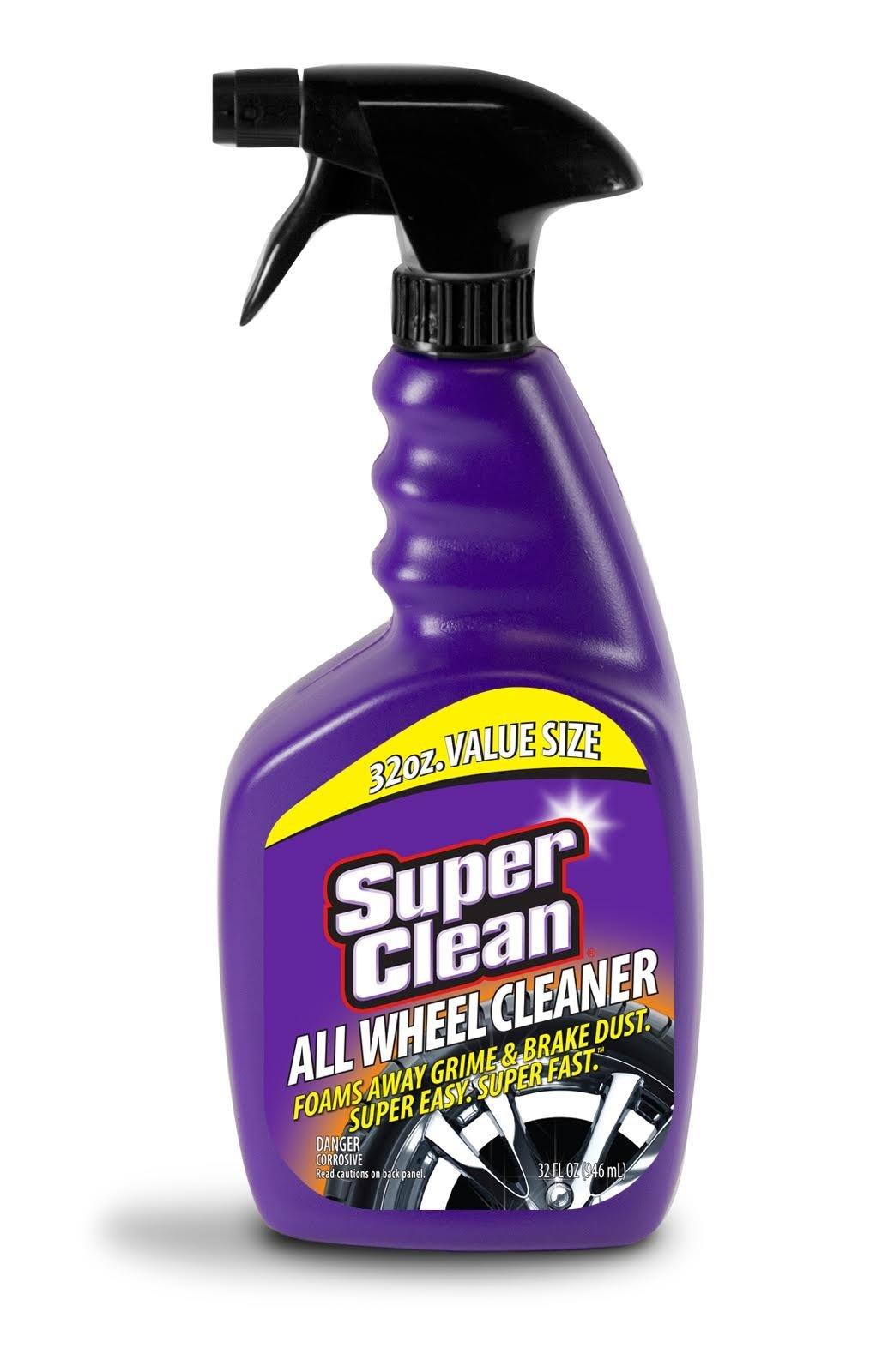 SuperClean Foaming All Wheel Cleaner, Safe for all Wheels & Rims, Brake Dust Cleaner, Grime Eliminator, 6 pack (192 ounces)