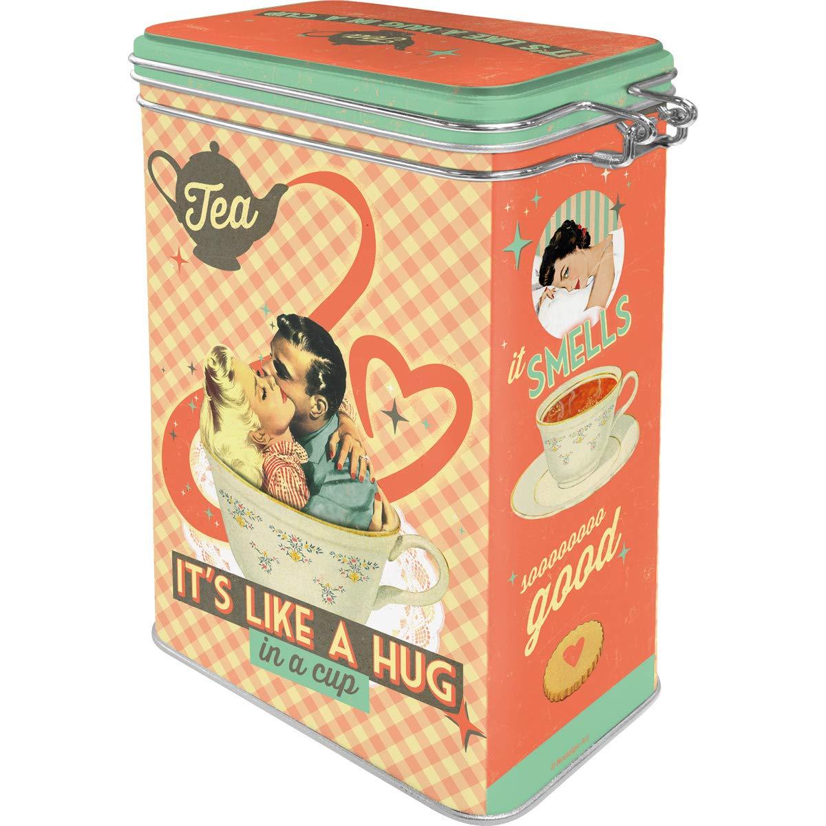 Nostalgic-Art Latas Say it 50s Say It 50s 11 x 8 x 18 cm Tea Its Like A Hug in A Cup Metal