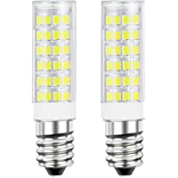 DiCUNO E14 LED Light Bulb 5W 50W Halogen Bulb Equivalent 220V Daylight White 6000K 550 Lumen Non-dimmable Pack of 2