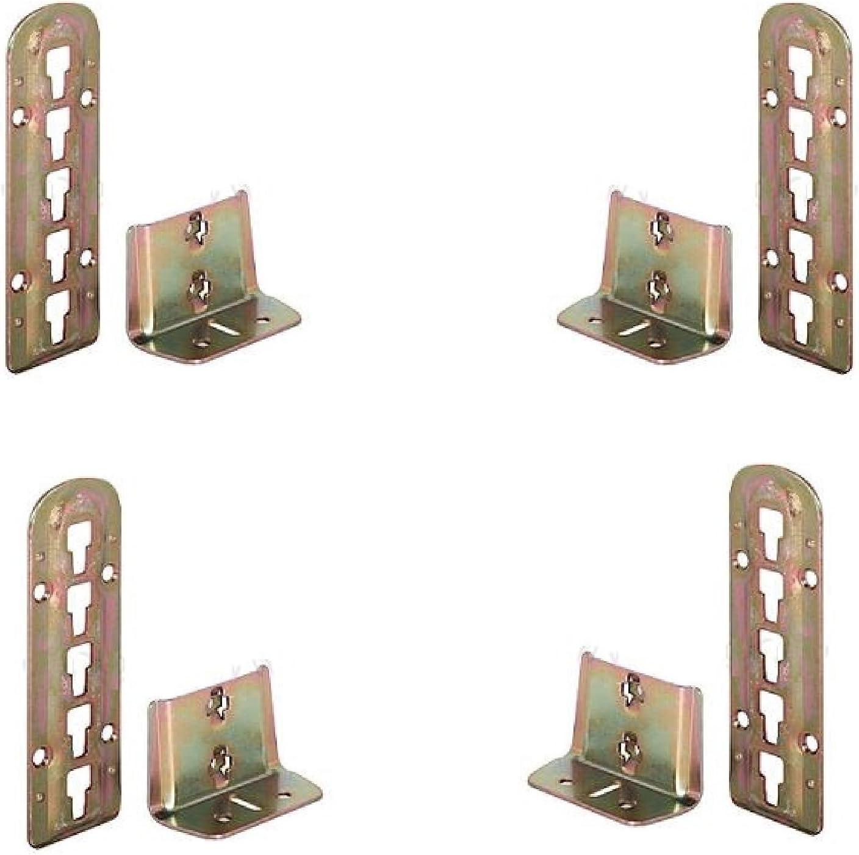 4 x lit réglable Ferrure pour sommier 140 mm x 48 mm 3 ...