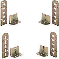 4x höhenverstellbarer Bettbeschlag für Lattenrost 140mm x 48mm 3-fach verstellbar Lattenrostauflage
