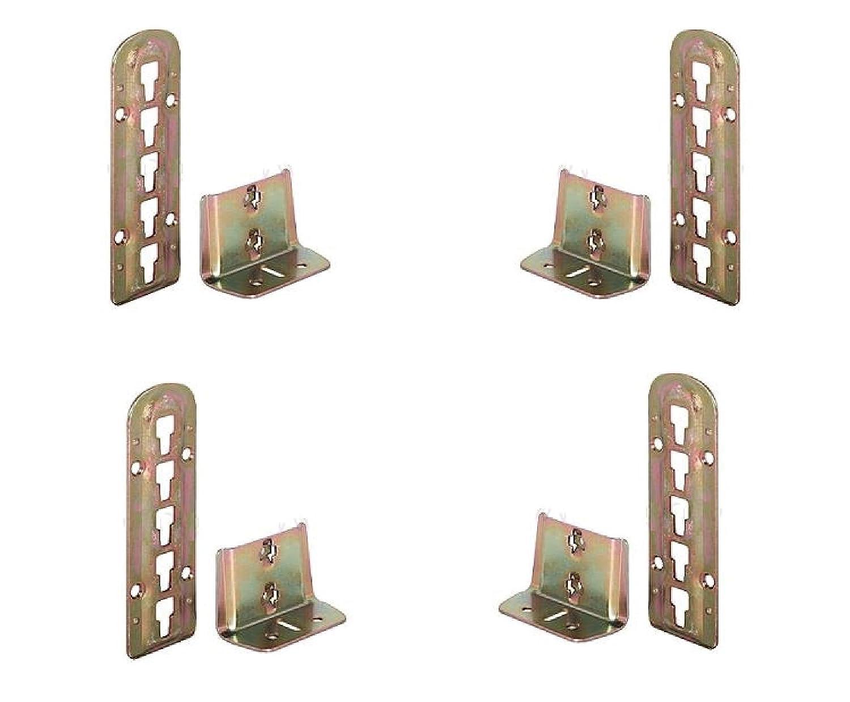 per rete a doghe 4x raccordi per letto regolabili in altezza 140/mm x 48/mm supporti regolabili in 3/posizioni